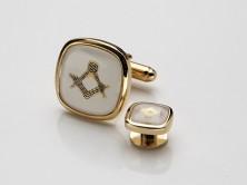 Masonic Cufflinks white